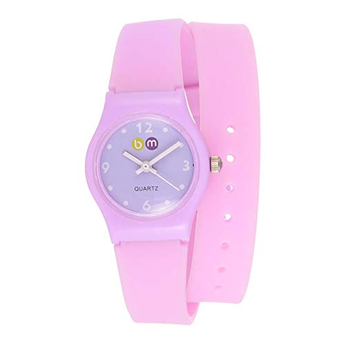 Bart & Melon Women's Violet Dial Pink Polycarbonate Case silicon Band Analog Watch 11-NL004-PV