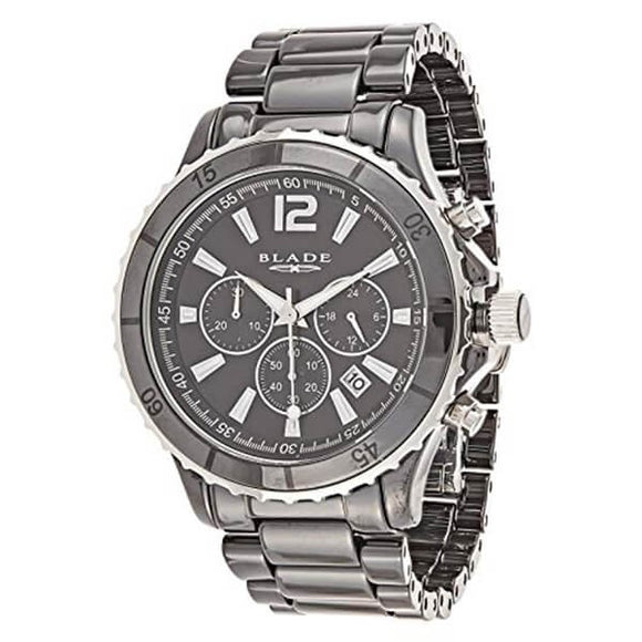 Blade Men's Black Dial Chronograph Ceramic Watch 10-3359G-NN 1