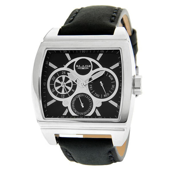 Blade Men's Black Dial Leather Strap Multifunction Watch 10-3392GSS-SNN 1