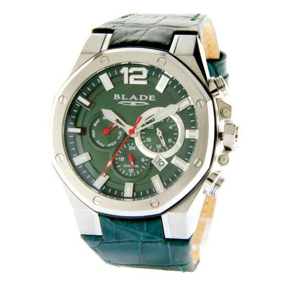 Blade Men's Green Dial Leather Strap Multifunction Watch 10-3503GSS-SEE 1