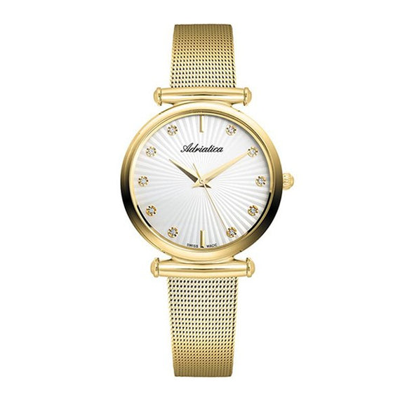 Adriatica Swiss Made Women's Gold Plated Watch - 3518.1193Q