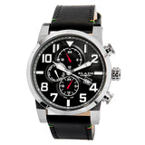 Blade Men's Black Dial Leather Strap Multifunction Watch Centurion Black 1