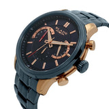 Blade Men's Blue Dial Stainless Steel Chronograph Watch Cachet Night 3