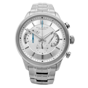 Blade Men's Silver Dial Stainless Steel Chronograph Watch Cachet White 1
