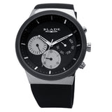 Blade men's Black dial Stainless Steel case PVD Black Plated Bezel Black Silicon Strap multi function Indie Mono 1