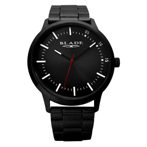 Blade men's Black Dial PVD Black Plated Stainless Steel Case and Band Urban Imprint 1