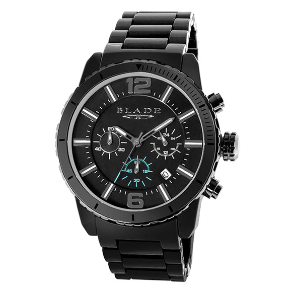 Blade Men's Grey Dial Ceramic Chronograph Watch - Ceracro Granite 1