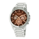 Blade men's Brown Dial Stainless Steel Case and Band Multi function Voyager Brown 1