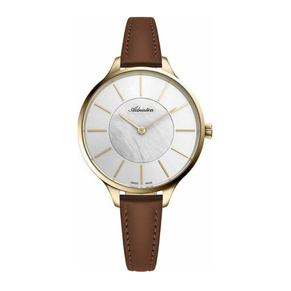 Adriatica Swiss Made Women's Leather Strap Watch - A3633.121FQ