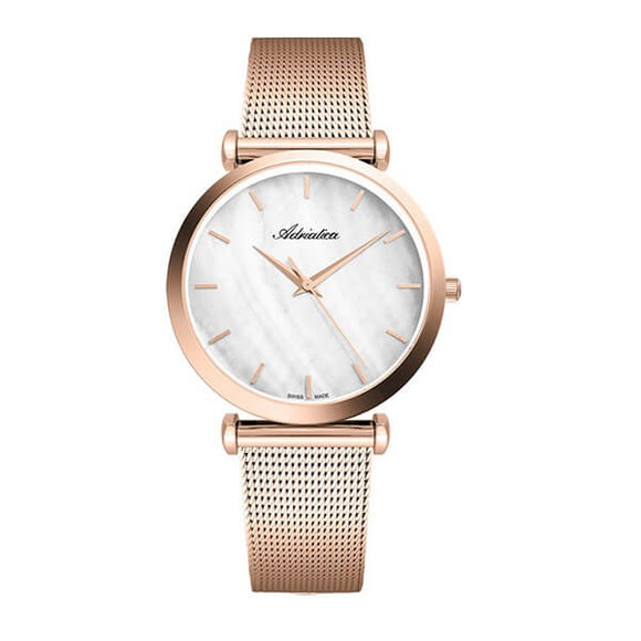 Adriatica Swiss Made Women's Rose Gold Plating Watch - 3713.911FQ