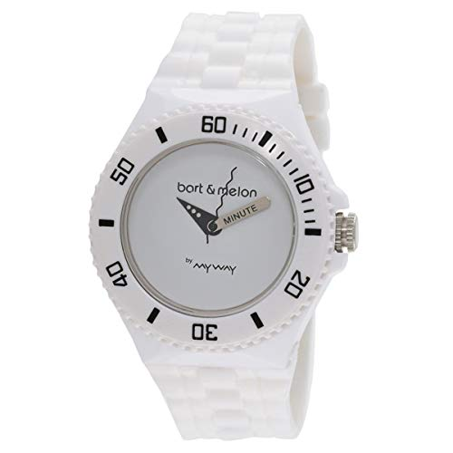 Bart & Melon Unisex White Dial White Polyurethene Analog Watch 11-NU006-WWW