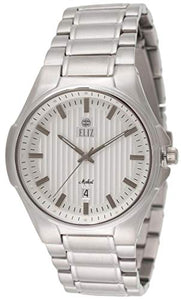 Eliz Men's Silver Dial Stainless Steel Analog Watch 10-8127G-SS 1