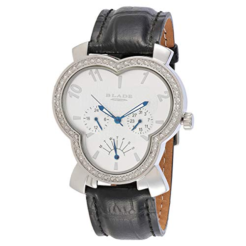 Blade Unisex White Dial Multifunction Black Leather Strap Watch 2720G-SWN 1