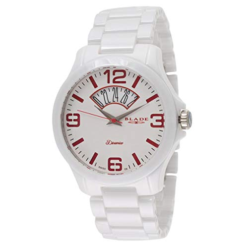 Blade Men's White Dial Date Window Hi-Tech Ceramic Watch 10-3350G-WWr 1