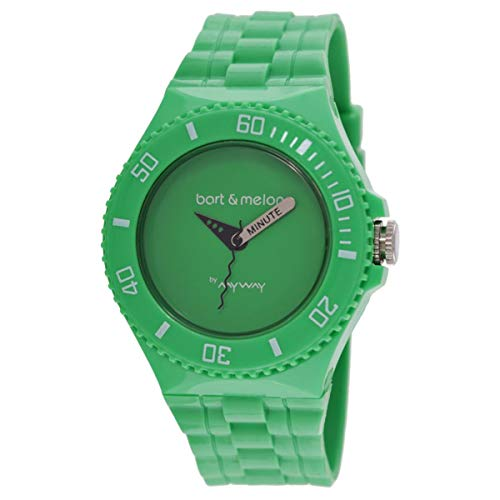 Bart & Melon Unisex Green Dial Green Polyurethene Analog Watch 11-NU006-GGG