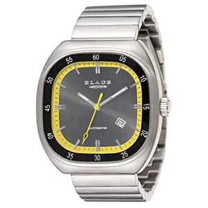 Blade Men's Grey & Yellow Dial Stainless Steel Watch 10-3158G0NY 1