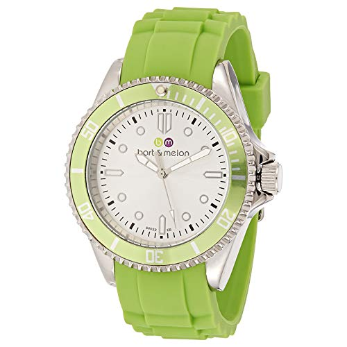 Bart & Melon Unisex Green Dial Green Silicon Band Analog Watch 12-NU010-SEE
