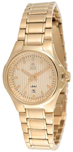 ELIZ  women's Gold Dial Gold Plated stainless steel Analog Watch 25-8127L-GG 1