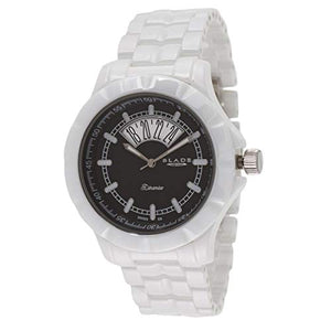 Blade Men's Black Dial Date Window Hi-Tech White Ceramic Watch 10-3344G-WN 1