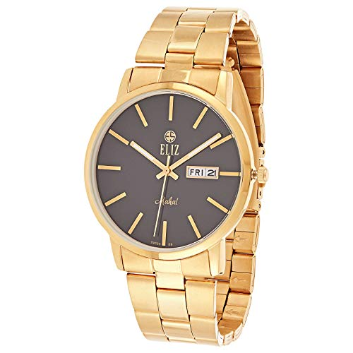 ELIZ Unisex Gold Plated Stainless Steel Watch - ES20-7989G-GN 1