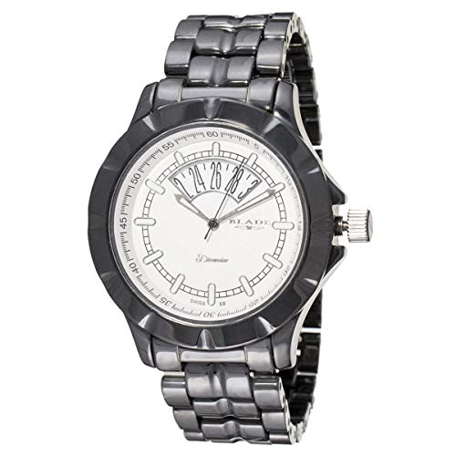Blade Men's White Dial Date Window Hi-Tech Black Ceramic Watch 10-3344G-NW 1