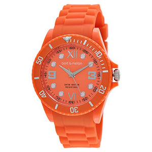 Bart & Melon Unisex  Orange Dial Orange Polycarbonate Analog Watch 11-NG002-Orange