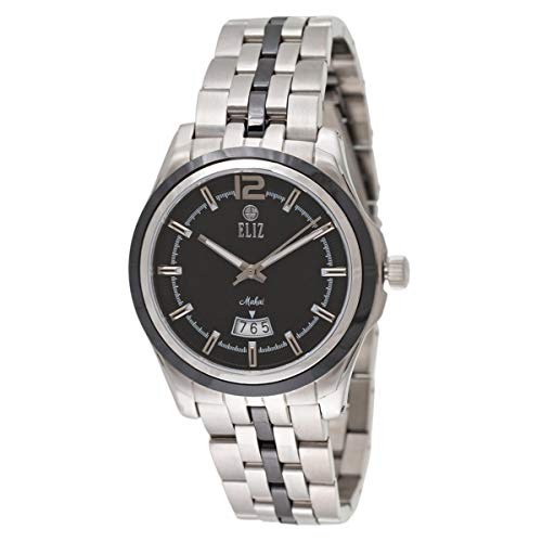 ELIZ Men's Black Dial Stainless Steel Analog Watch - ES20-8128G-SNN 1