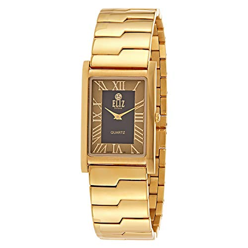 ELIZ Men's Gold Plated Stainless Steel Analog Watch - ES20-7679G-GN 1