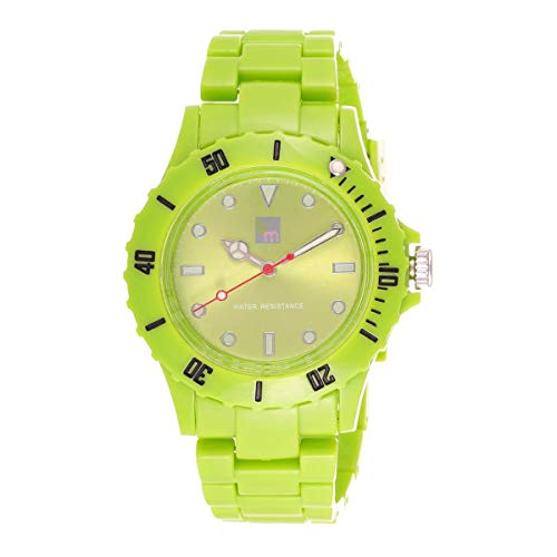 Bart & Melon Unisex Green Dial Green polycarbonate case and Band Analog Watch 11-NG001-Green 1