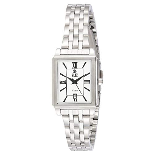 ELIZ Women's White Dial Stainless Steel Analog Watch - ES15-8047L-SWn 1