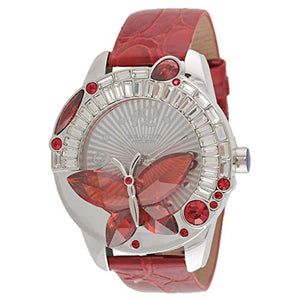 Blade Women's Red Genuine Leather Stainless Steel Back Analog Watch 15-3260L-SR 1