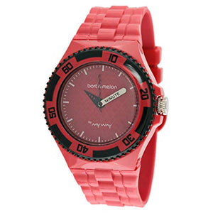 Bart & Melon Unisex Red Dial Red Polycarbonate Analog Watch 11-NU005-RRR
