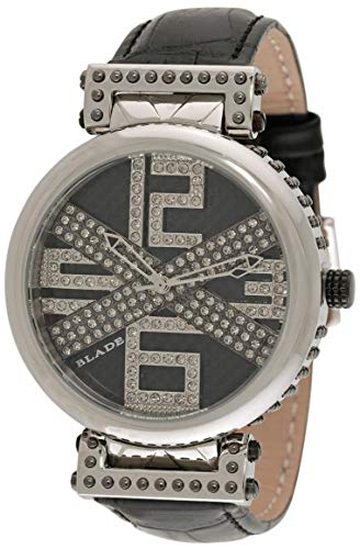 Blade Men's Croco Design Black Leather Strap Analog Watch 30-3251G-SNN 1