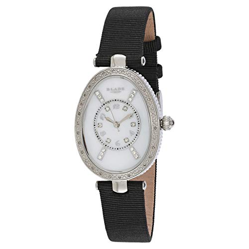 Blade Women's White Mother of Pearl Dial Black Leather Strap Watch 2731L-SHN 1