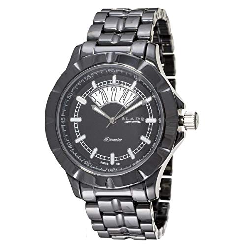 Blade Men's Black Dial Date Window Hi-Tech Ceramic Watch 10-3344G-NN 1