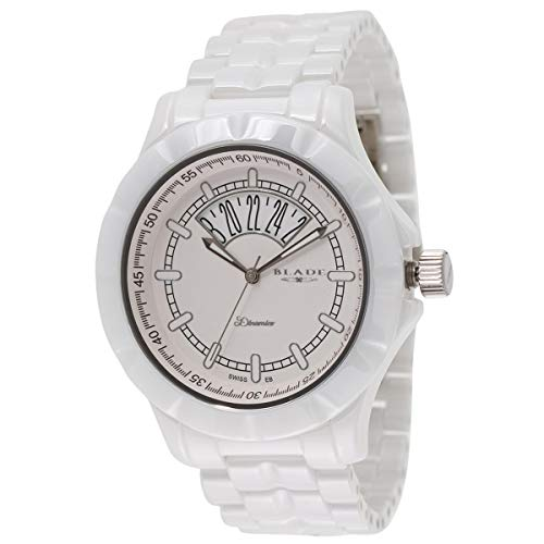 Blade Men's White Dial Date Window Hi-Tech White Ceramic Watch 10-3344G-WW 1