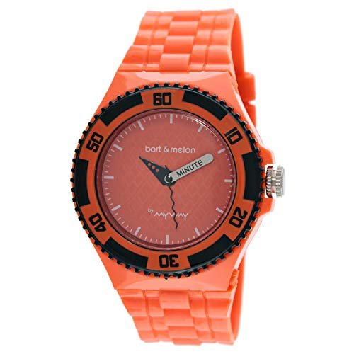 Bart & Melon Unisex Orange Dial Orange Polycarbonate Analog Watch 11-NU005-AAA