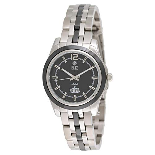 ELIZ Women's Stainless Steel and Ceramic Analog Watch - ES15-8128L-SNN 1