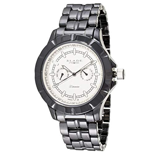 Blade Men's White Dial Multifunction Hi-Tech Black Ceramic Watch 10-3345G-NW 1