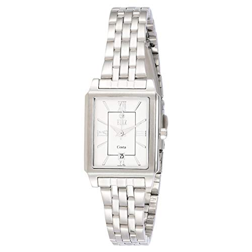 ELIZ Women's White Dial Stainless Steel Watch - ES15-8047L-SW 1