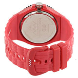 Bart & Melon Unisex Red Dial Red Polycarbonate Analog Watch 11-NU005-RRR 3