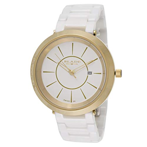 Blade Unisex White Dial Ceramic Analog Watch 20-3264U-GW 1