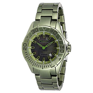 Blade Men's Black Dial Green Hi-Tech Aluminum Strap Analog Watch 13-3148G-GG 1
