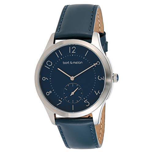 Bart & Melon Unisex Blue Dial Blue Leather Band Analog Watch 15-DG013-2SBB