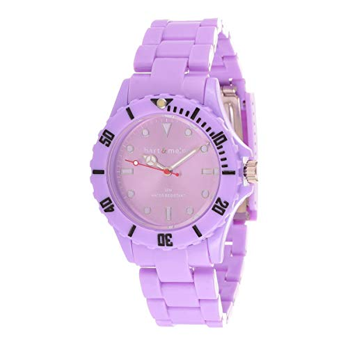 Bart & Melon Unisex Lavender Dial  polycarbonate case and Band Analog Watch 11-NG001-Purple 1