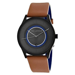 TED LAPIDUS Mens Grey Dial Genuine Leather Strap Watch - 5131904