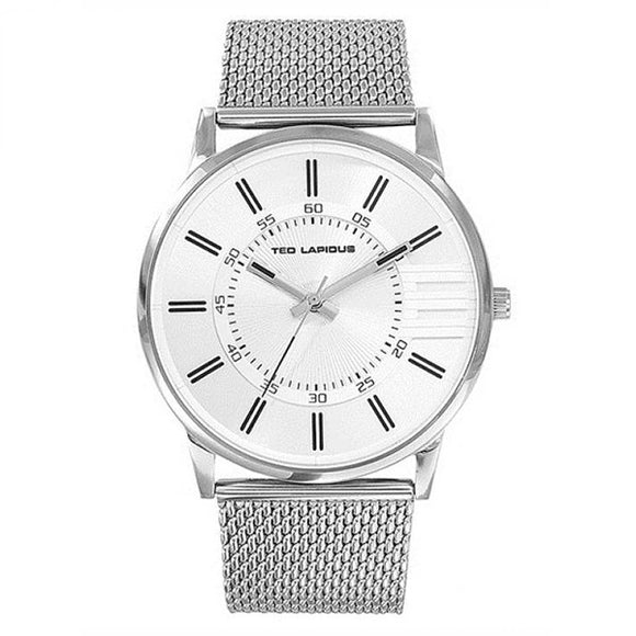 Ted Lapidus Men's Silver Dial Stainless Steel Watch - 5132006