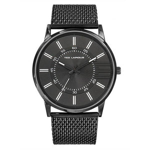 Ted Lapidus Men's Black Stainless Steel Watch - 5132007
