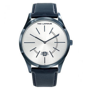 Ted Lapidus Men's Silver Dial Leather Strap Watch - 5132503