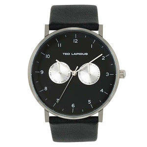 Ted Lapidus Men's Black Dial Leather Strap Watch - 5132801